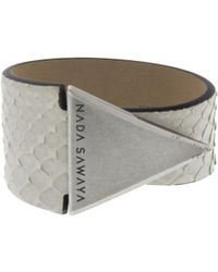Nada Sawaya - The One - Python And Antik Silver-tone Bracelet - Lyst