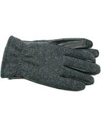 Ike Behar - Wool Leather Touchscreen Gloves - Lyst