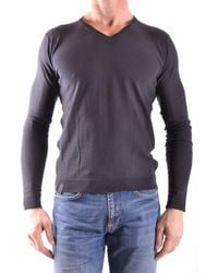 Fred Mello - Men's Grey Cotton Sweater - Lyst