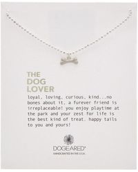 Dogeared - Silver The Dog Lover Necklace - Lyst