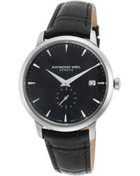 Raymond Weil | Men's Toccata Black Genuine Leather And Dial | Lyst
