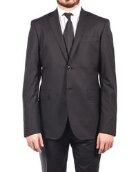 Balmain - Wool Two Button Suit Charcoal Black - Lyst