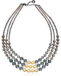 Antica Murrina - Women's Grey Steel Necklace - Lyst