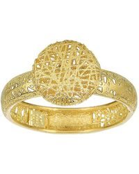 Jewelry Affairs - 14k Yellow Gold Mesh Textured Round Disc Ring, Size 7 - Lyst