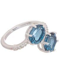 Judith Ripka - Silver 4.30 Ct. Tw. White Topaz Ring - Lyst