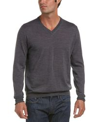 Canali - V-neck Wool Sweater - Lyst