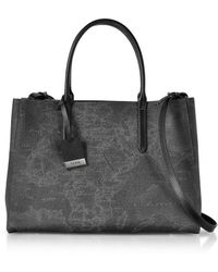 Alviero Martini 1A Classe - Women's Black Leather Handbag - Lyst