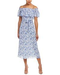 Rebecca Taylor - Aimee Silk Midi Dress - Lyst