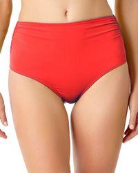 Anne Cole - High-waist Shirred Bottom - Lyst