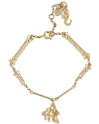 Les Nereides - Atlantide Golden Columns And Coral Bracelet - Lyst