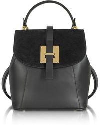 Le Parmentier - Women's Black Leather Backpack - Lyst
