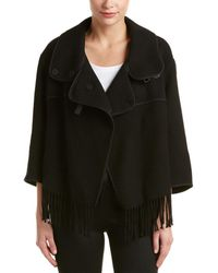 Karen Millen - Wool-blend Fringe Jacket - Lyst