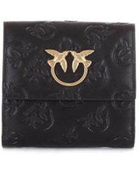 Pinko - Women's Black Leather Wallet - Lyst