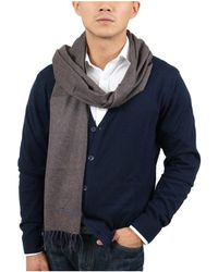 S.t. Dupont - 100ws Tb Taupe/blue Fine Purecashmere Classic Mens' Scarf - Lyst