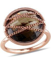 Catherine Malandrino | Smokey Quartz Crisscross Ring | Lyst