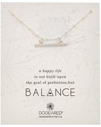 Dogeared - Balance Collection Silver Necklace - Lyst