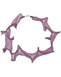 "Jewelista - 32"" Fuschia Titanium Mesh Necklace - Lyst"
