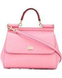 Dolce & Gabbana - Dolce E Gabbana Women's Pink Leather Handbag - Lyst
