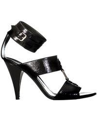 Saint Laurent - Women's 404435cpx001000 Black Leather Sandals - Lyst