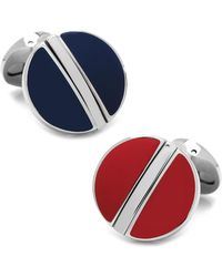 Ox and Bull Trading Co. - Stainless Steel Reversible Blue And Red Cufflinks - Lyst