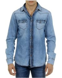 Andrew Charles by Andy Hilfiger - Andrew Charles Mens Shirt Long Sleeves Denim Camilia - Lyst