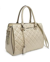 Adrienne Vittadini - Cushion Quilted Chain Strap Satchel - Lyst