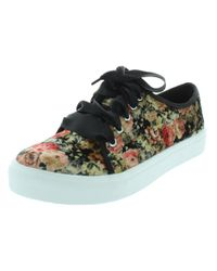 Dirty Laundry - Womens Janeane Velvet Floral Print Fashion Sneakers - Lyst