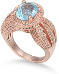 Suzy Levian - Sterling Silver 5.18 Cttw Blue Topaz Ring - Lyst