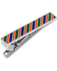 Ox and Bull Trading Co. - Varsity Stripes Blue, Green, And Orange Tie Clip - Lyst