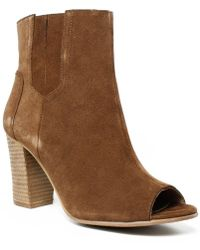 Blondo - Womens B5465-218 Tansuede Open Toe Heels - Lyst