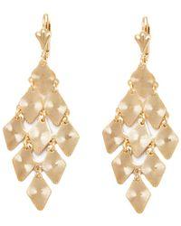 Peermont - Gold Diamond Chadelier Earrings - Lyst