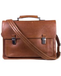 Brunello Cucinelli - Men's Brown Leather Messenger Bag - Lyst