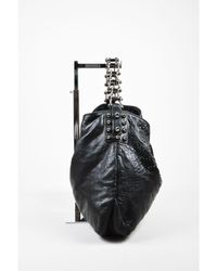 "Thomas Wylde - 1 Black Gunmetal Distressed Leather Jewelled ""colossus Scorpion"" Bag - Lyst"