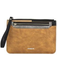 Desigual - Women's Brown Polyester Wallet - Lyst