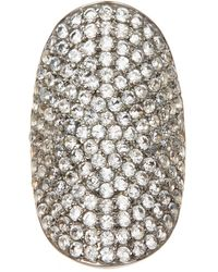 Adornia - White Topaz And Sterling Silver Farrah Ring - Lyst