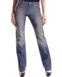 CoSTUME NATIONAL - Women's Blue Cotton Jeans - Lyst