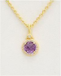 Judith Ripka - 14k Over Silver 1.47 Ct. Tw. Gemstone Necklace - Lyst