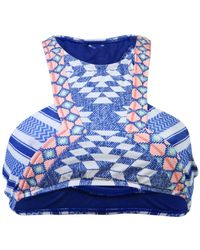 Rip Curl - Blue High Neck Swimsuit Del Sol High Neck - Lyst