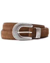 Eleventy - Men's 979ci0032cin2100304 Brown Leather Belt - Lyst