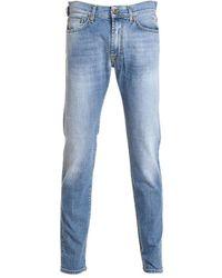 Roy Rogers - Men's Blue Cotton Jeans - Lyst