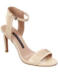 French Connection - Linna Leather Sandal - Lyst