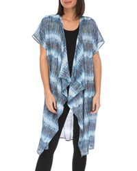 Bobeau - Short Sleeve Tie Dye Kimono - Lyst