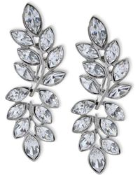 Kenneth Jay Lane - Women's Silver/crystal Earring - Lyst