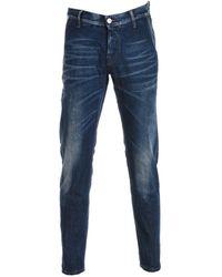 Care Label - Men's Blue Cotton Jeans - Lyst
