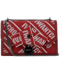 Jimmy Choo - Women's Red Fabric Shoulder Bag - Lyst