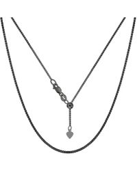 "Jewelry Affairs - Sterling Silver Black Ruthenium Plated 22"" Sliding Adjustable Box Chain Necklace, 1.4mm - Lyst"