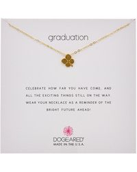 Dogeared - Reminder Collection Graduation 14k Over Silver Necklace - Lyst