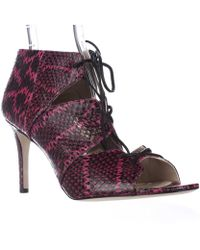 Via Spiga - Vibe2 Lace Up Bootie Pumps - Fuschia - Lyst