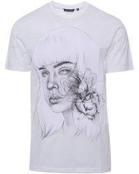 Antony Morato - Men's White Cotton T-shirt - Lyst