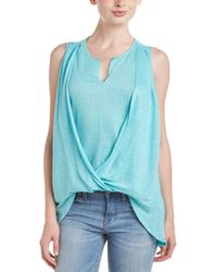 Lola & Sophie - Lola And Sophie Draped Crossover Blouse - Lyst